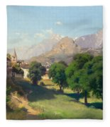 Bramois. Wallis. 1861 Fleece Blanket