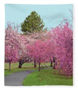 Branch Brook Cherry Blossoms II Fleece Blanket