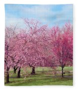 Branch Brook Cherry Blossoms Fleece Blanket
