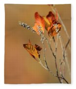 Branch Of Autumn Fleece Blanket