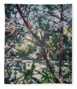 Branches Of Light Fleece Blanket