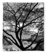 Branching Out In Bw Fleece Blanket