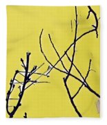 Branching Out Snowscape 3 Fleece Blanket
