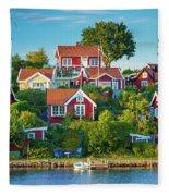 Brandaholm Cottages Fleece Blanket