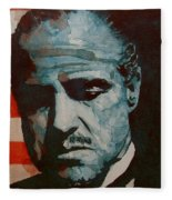 The Godfather-brando Fleece Blanket