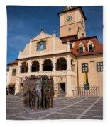 Brasov Town Hall Fleece Blanket