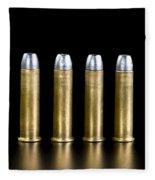 Brass And Lead Bullets. Fleece Blanket