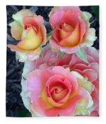 Brass Band Roses Fleece Blanket