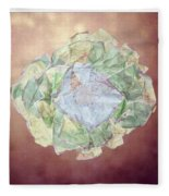 Brass Flower Fleece Blanket
