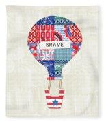 Brave Balloon- Art By Linda Woods Fleece Blanket