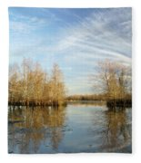 Brazos Bend Winter Reflections Fleece Blanket