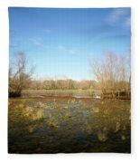 Brazos Bend Winter Wetland Fleece Blanket