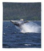 Breaching Whale. Fleece Blanket