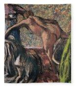 Breakfast After The Bath, 1895 Fleece Blanket