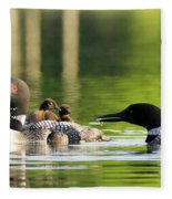 Loon Mom Serves Breakfast In Bed Fleece Blanket