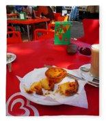 Breakfast In Portugal Fleece Blanket