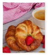 Breakfast With Croissants Fleece Blanket