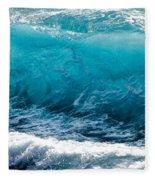 Breaking Wave At Kekaha Beach Fleece Blanket
