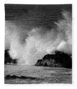 Breaking Wave At Pacific Grove Fleece Blanket