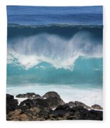 Breaking Waves Fleece Blanket
