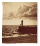 Breakwater At Sete Fleece Blanket