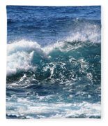 Breathe Like Water Kashmir Blue Sapphire Fleece Blanket