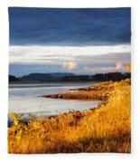Breathing The Autumn Air Fleece Blanket