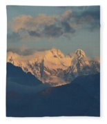 Breathtaking View Of The Italian Alps With A Cloudy Sky  Fleece Blanket