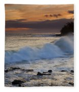 Brennecke Waves Sunset Fleece Blanket