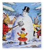 Brer Rabbit From Once Upon A Time Fleece Blanket