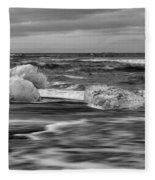 Brethamerkursandur Iceberg Beach Iceland 2155 Fleece Blanket