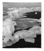 Brethamerkursandur Iceberg Beach Iceland 2319 Fleece Blanket
