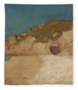 Breton Coastline Fleece Blanket