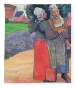 Breton Peasants Fleece Blanket