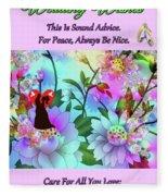 Brian Exton Celestial Flowers  Bigstock 164301632  2991949 Fleece Blanket