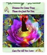 Brian Exton Sacred Flower Of Love  Bigstock 164301632  2991949  12779828 Fleece Blanket