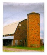 Brick Barn And Silo Fleece Blanket