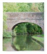 Brick Canal Bridge  Fleece Blanket