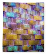 Brick Wall In Abstract 499 S Fleece Blanket