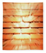 Brick Wall Fleece Blanket
