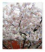 Bricks And Blossoms Fleece Blanket