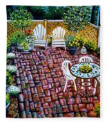 Brickwork Fleece Blanket