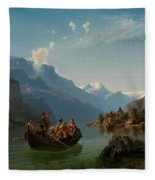 Bridal Procession On The Hardangerfjord Fleece Blanket