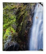 Bridal Veil  Falls 3 Fleece Blanket