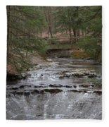 Bridal Veil Falls Ohio Fleece Blanket