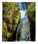 Bridal Veil Falls, Oregon Fleece Blanket