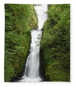 Bridal Veil Falls - Oregon Fleece Blanket