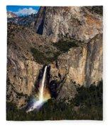 Bridalveil Falls Rainbow #3 Fleece Blanket