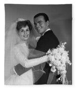 Bride And Groom, C.1960s Fleece Blanket
