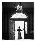 Bride Silhouette  Fleece Blanket